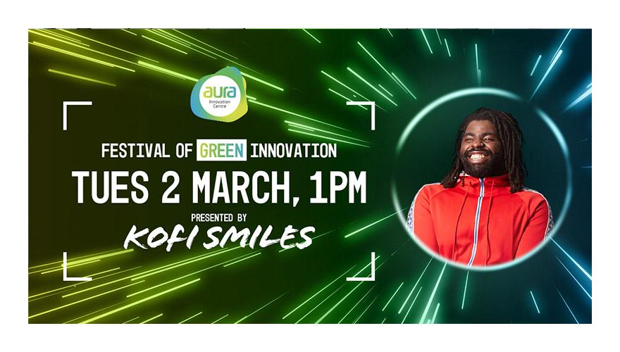 Festival of Green Innovation virtual event digital ad graphic